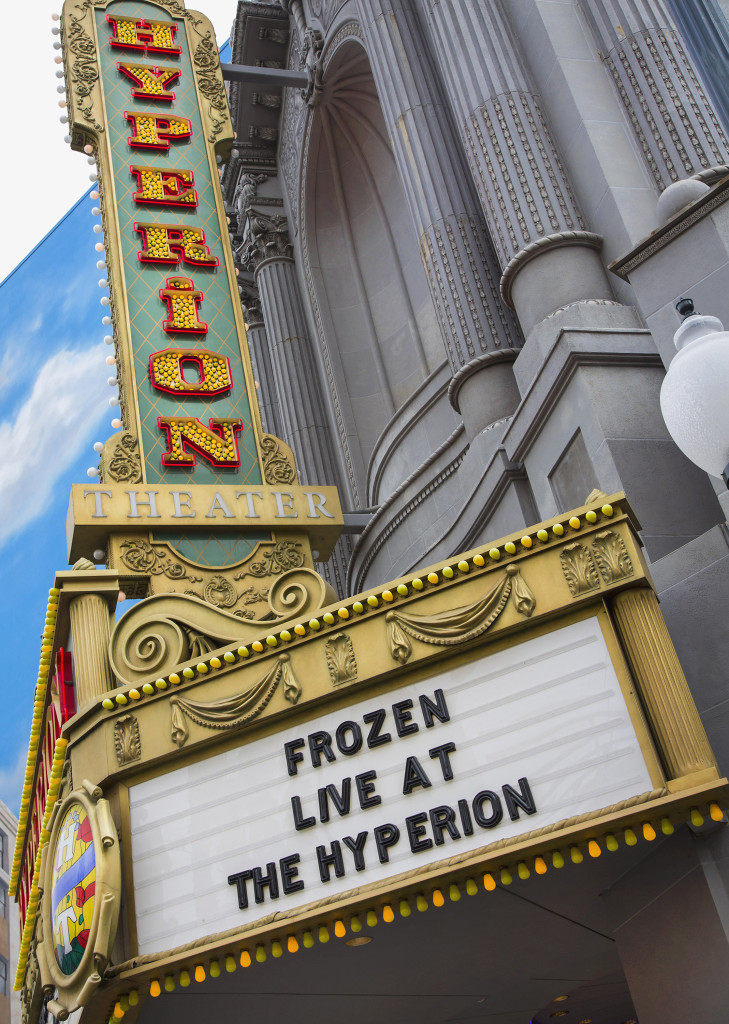 "'FROZEN – LIVE AT THE HYPERION' – ""Frozen – Live at the Hyperion,"" a new musical based on the Walt Disney Animation Studios film ""Frozen,"" will open at the Hyperion Theater at Disney California Adventure Park on May 27, 2016. The new musical at the Disneyland Resort will immerse audiences in the emotional journey of Anna and Elsa in an entertaining musical adaptation that includes elaborate costumes and sets, special effects, new technologies, show-stopping production numbers and unique theatrical surprises. (Paul Hiffmeyer/Disneyland Resort)"